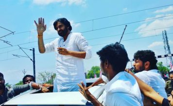 JanaSena Party Chief Pawan Kalyan At Settipalli