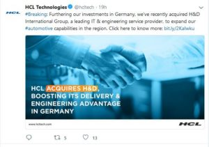 HCL acquires H&D